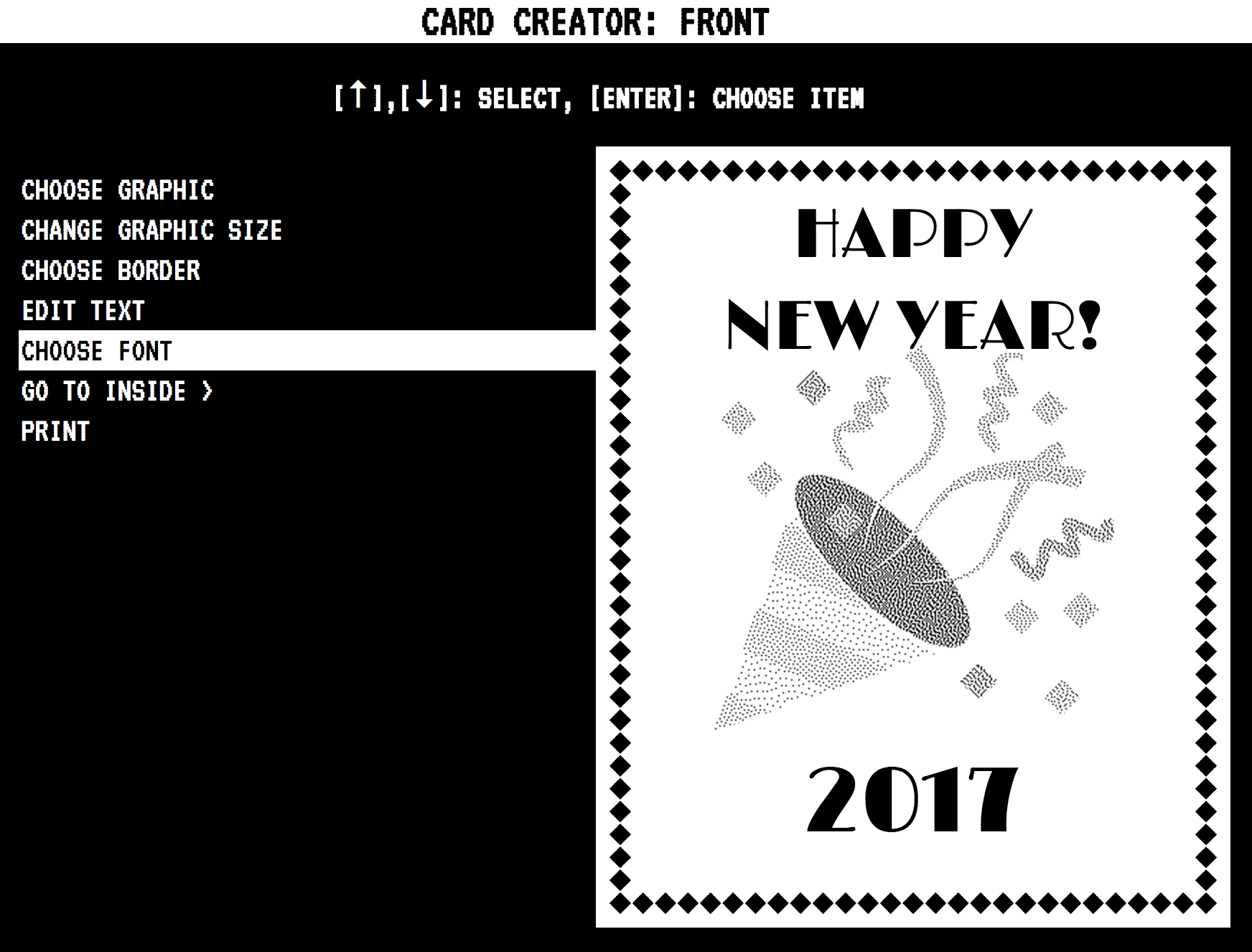 Making a new years card